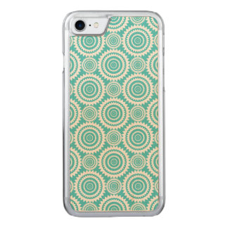 Aqua and White Geometric Design Pattern Carved iPhone 8/7 Case
