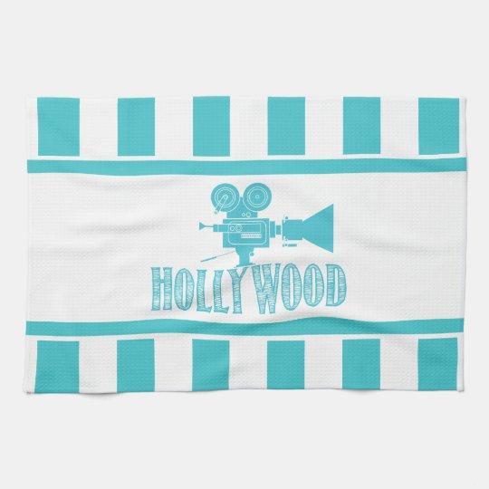 Aqua and White Hollywood Towel