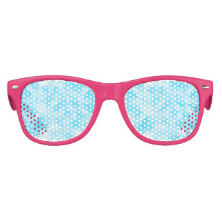 Aqua and White Mottled Party Sunglasses