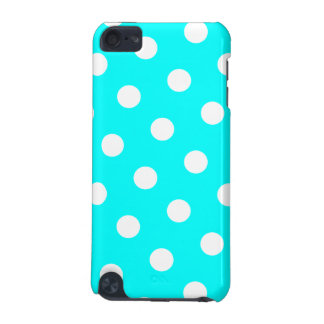 Aqua and White Polka Dot Pattern iPod Touch (5th Generation) Covers
