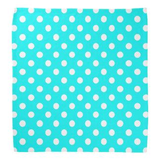 Aqua and White Polka Dots Bandana