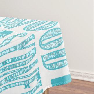 Aqua and White, Urban Cities Tablecloth