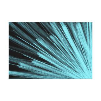 Aqua Angular Lines - Canvas Print