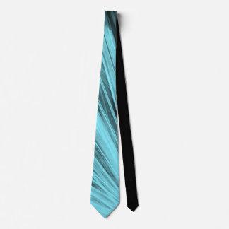Aqua Angular Lines - Neck Tie