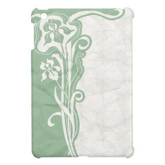 Aqua art deco paper iPad mini cover