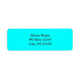 Aqua Avery Label Return Address Label
