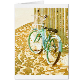 Aqua Beach Cruiser Card