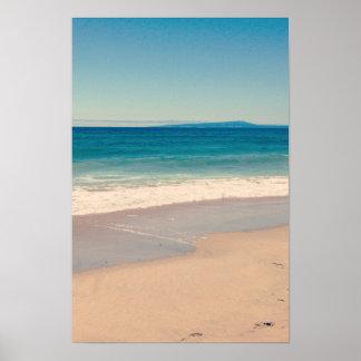 Aqua Beach Scene Poster