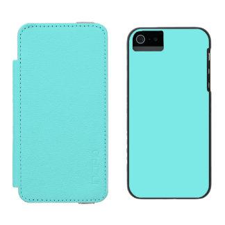 Aqua Belle Aqua Blue Uptown Girl Designer Wedding Incipio Watson™ iPhone 5 Wallet Case