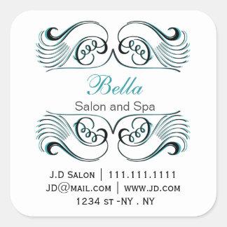 aqua  black and white Chic Business stickers