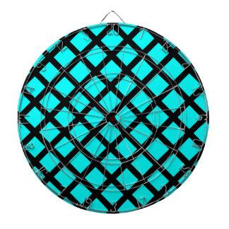 Aqua black pattern dart board