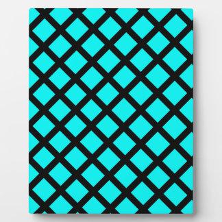 Aqua black pattern plaque