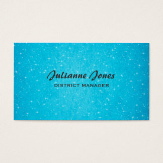 Aqua Bling Business Card