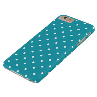 Aqua Blue 50s Polka Dot iPhone 6 Plus Case