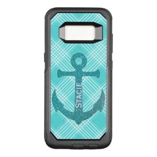 Aqua Blue Anchor Otterbox Samsung S8 Case