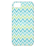 Aqua, blue and lime green chevron zigzag pattern iPhone 5C cases