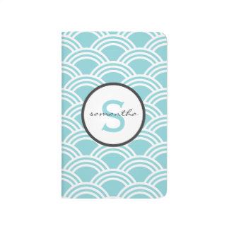 Aqua Blue Clamshells Journal