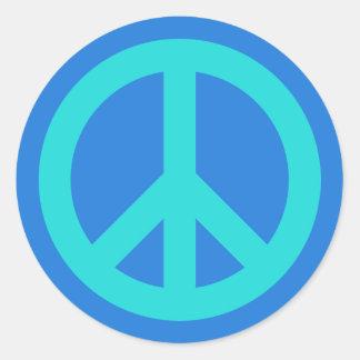 Aqua Blue Classic Round Sticker