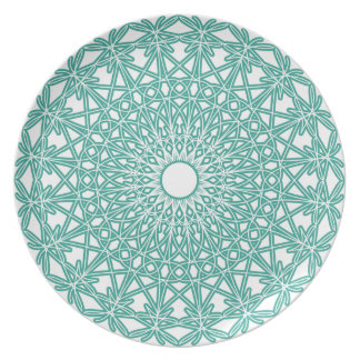 Aqua Blue Crocheted Lace Plate