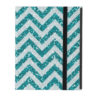 Aqua blue faux glitter iPad 2/3/4 case