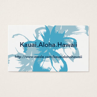Aqua Blue Floral Business Card