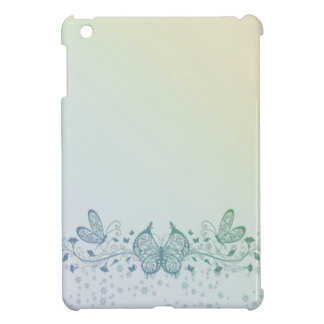 Aqua Blue Green Delicate Butterfly Cover For The iPad Mini
