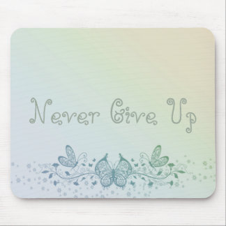 Aqua Blue Green Delicate Butterfly Mouse Pad