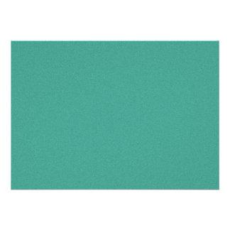 "Aqua/blue-green ""sand grains"" background personalized invitations"