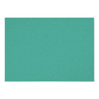 "Aqua/blue-green ""sand grains"" background 5"" x 7"" invitation card"