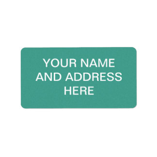 "Aqua/blue-green ""sand grains"" background personalized address labels"
