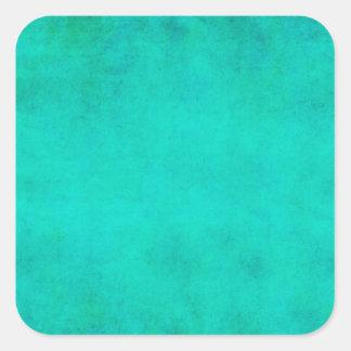 Aqua Blue Green Watercolor Purple Parchment Paper Square Sticker