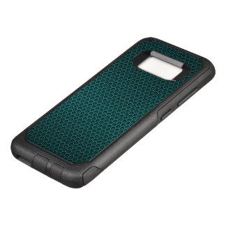 Aqua Blue Hexagonal Carbon Fiber Honeycomb Mesh OtterBox Commuter Samsung Galaxy S8 Case