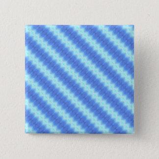 Aqua Blue Knit Crochet Stripe Texture Pattern 2 Inch Square Button