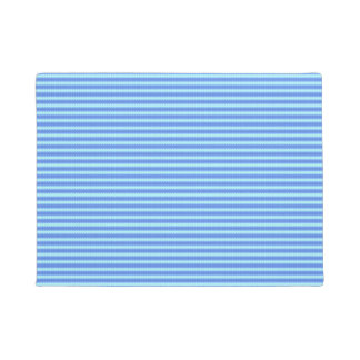 Aqua Blue Knit Crochet Stripe Texture Pattern Doormat