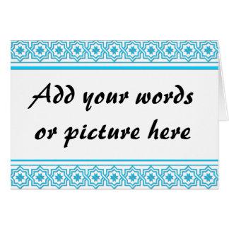 "Aqua blue ""lace"" background greeting cards"