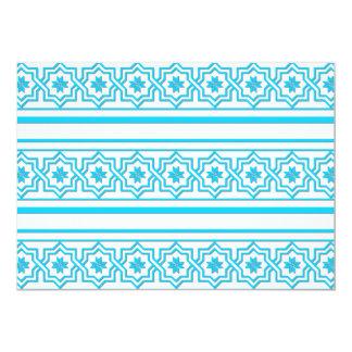 "Aqua blue ""lace"" background 5"" x 7"" invitation card"