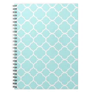 Aqua Blue Moroccan Pattern Note Book