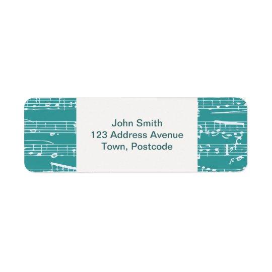 Aqua Blue music notes