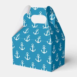 Aqua Blue Nautical Anchors Favor Box