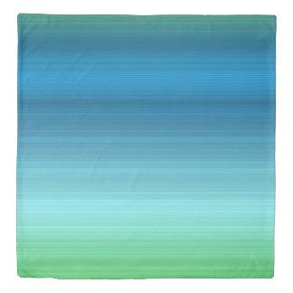 Aqua blue, navy and green duvet cover