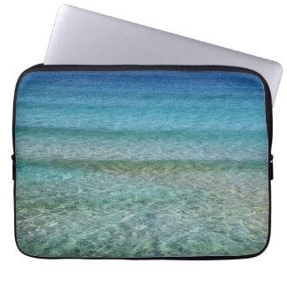 "Aqua Blue Ocean Sea Abstract, Laptop Sleeve 13"""