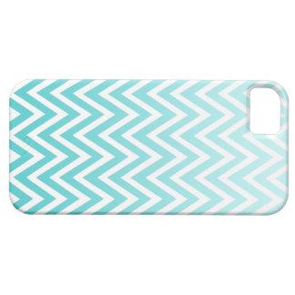 Aqua blue ombre chevron stripes iphone 5 case