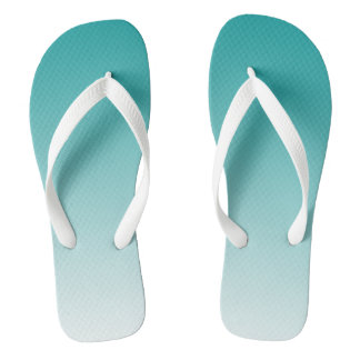 AQUA BLUE (OMBRE DESIGN) Pair of Flip Flops