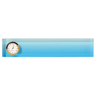 Aqua Blue Ombre Desk Nameplates