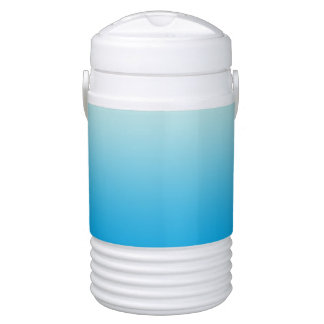 Aqua Blue Ombre Drinks Cooler