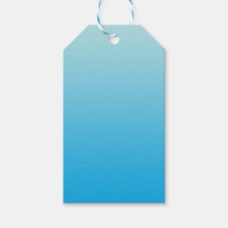 Aqua Blue Ombre Gift Tags