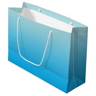 Aqua Blue Ombre Large Gift Bag