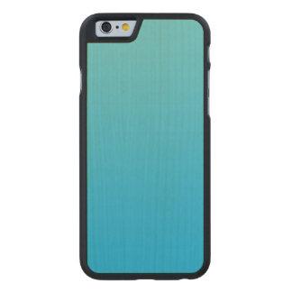 Aqua Blue Ombre Maple Wood Carved® Maple iPhone 6 Slim Case
