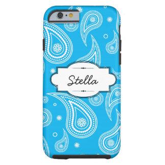 Aqua Blue Paisley iPhone 6 Tough Case