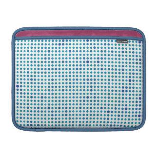 Aqua Blue Polka Dots Sleeve For MacBook Air